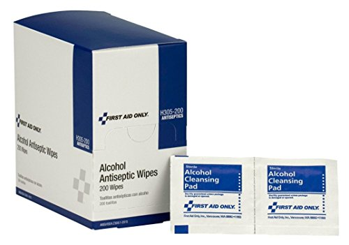 First Aid OnlyTM Alcohol Cleansing Pads, Dispenser Box, 100/box