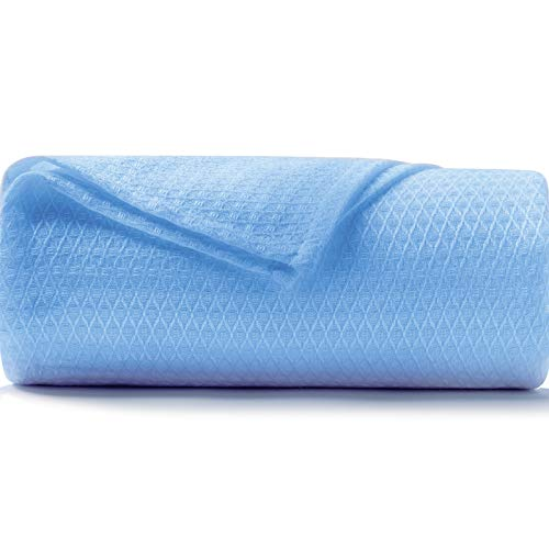 DANGTOP Cooling Blankets, Queen Size 100% Bamboo Blanket for All-Season, Cooling Blanket Absorbs Body Heat to Keep Cool on Warm Night, Ultra-Cool Lightweight Blanket for Bed (79X91 inches, Blue)