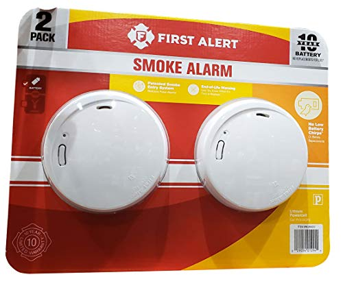 First Alert 10 Year Photoelectric Smoke Alarm 2 Pack,