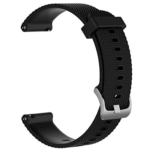 LOKEKE for Timex Expedition Replacement Wrist Band - 20mm Replacement Silicone Wrist Band Strap for Timex Expedition/Weekender(Siliocne Black)