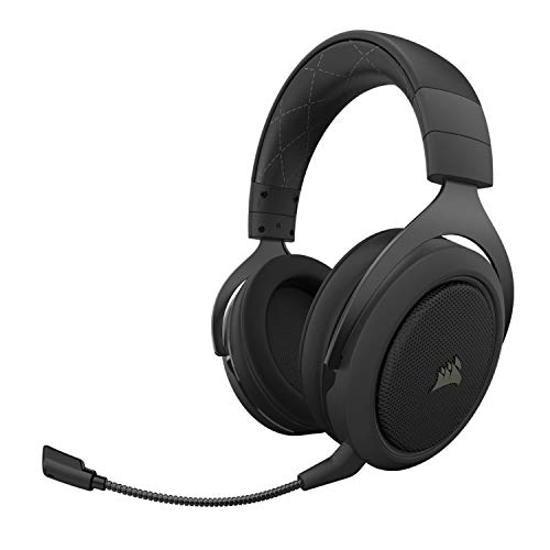 Corsair HS70 Pro Wireless Gaming Headset - 7.1 Surround Sound Headphones for PC, PS5, and PS4 - Discord Certified - 50mm Drivers – Carbon (CA-9011211-NA)