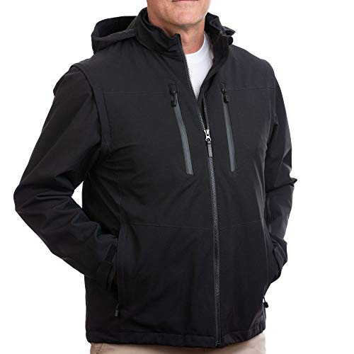SCOTTeVEST Revolution 2.0 Plus - Insulated Winter Jacket - 26 Pocket Jacket XL Black