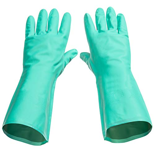 Tusko Products Best Nitrile Rubber Cleaning, Household, Dishwashing Gloves, Latex Free, Vinyl Free, Reusable not Disposable, Extra Large XL (1 Pair)