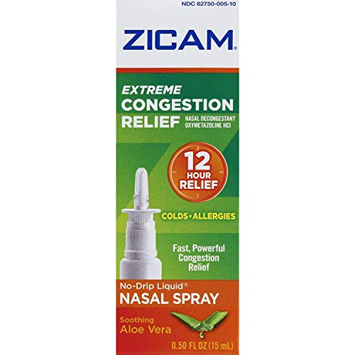 Zicam Extreme Congestion Relief No-Drip Liquid Nasal Spray, 0.50 Ounces each (Value Pack of 3)