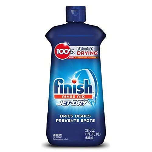 Finish Jet-Dry Rinse Aid, Dishwasher Rinse Agent and Drying Agent, 23 fl oz, Packaging may vary