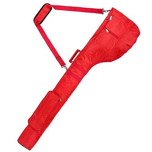FLYMEI Driving Range Golf Bag, Sunday Golf Travel Bag for 8-10 Golf Clubs Lightweight Carry Bag for Women, Foldable Golf Club Bag