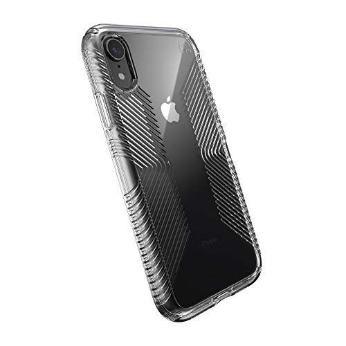 Speck Products Presidio Perfect-Clear with Grip Case, Compatible with iPhone XR, Clear/Clear