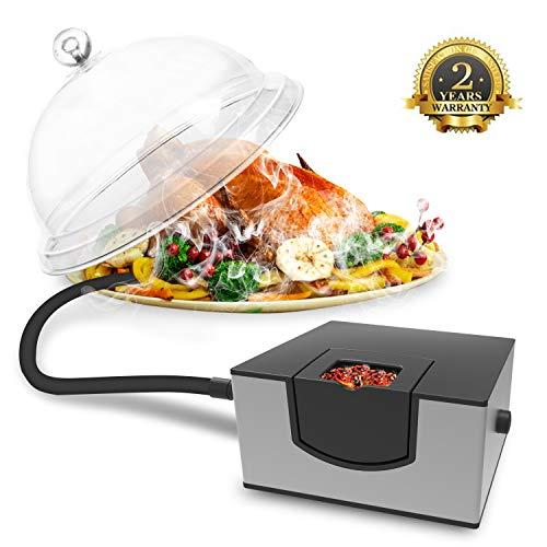 Kaven Smoking Gun Handheld Smoker Food Smoker for Meat, Veggies, BBQ, Sous Vide, Fruit, Cocktail,Cheese(Silver)