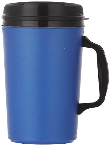 ThermoServ Foam Insulated Mug, 34-Ounce, Pearl Dark Blue