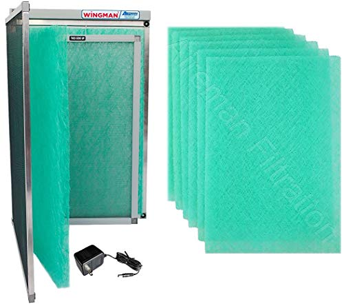 16x25x1 Electronic Air Filter Including Year Supply of Replacement Pads - Homeowner Installed- Simply Replace Your Current AC Furnace Air Filter and PLUG IT IN!