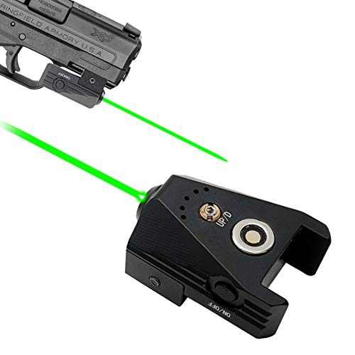 Lasercross Magnetic Charging Laser Sight,Tactical Green Laser Gun Sight,Fits with Standard Picatinny Rail,Ultra Compact Sized Gun Laser for Most of Pistols and Gun Optics