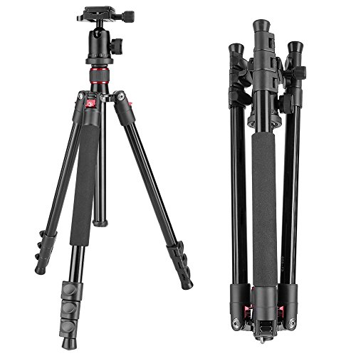 Neewer Alluminum Alloy 62'/158cm Camera Tripod with 360 Degree Ball Head, 1/4' Quick Shoe Plate, Bag for DSLR Camera, Video Camcorder, Load up to 17.6lbs/8kg