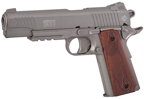 Crosman C1911S CO2-Powered 1911 Semi-Auto Pellet Air Pistol, Silver