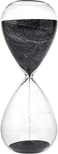 Hourglass Sand Timers - Biloba Hourglass Sand Timer, 8.1 Inch Rose Red Sand Timer (30 Mins, Black)