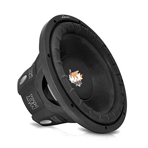 LANZAR 6.5 inch Car Subwoofer Speaker - Black Non-Pressed Paper Cone, Aluminum Voice Coil, 4 Ohm Impedance, 600 Watt Power and Foam Edge Suspension for Vehicle Audio Stereo Sound System - MAXP64, 6.5' -inch