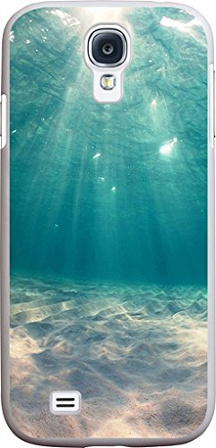 S4 Case - Case for Galaxy S4 - Protector Cover Compatible for Samsung S4 - Blue Clean Ocean Water (Slim Flexible TPU Protective Silicone)