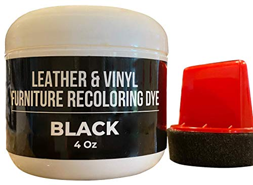Black Leather Recoloring Dye - Couch Leather Repair Kits- Leather Restorer for Couches, Furniture, Car Seat, Boots -Black Leather Dye- Furniture Hero
