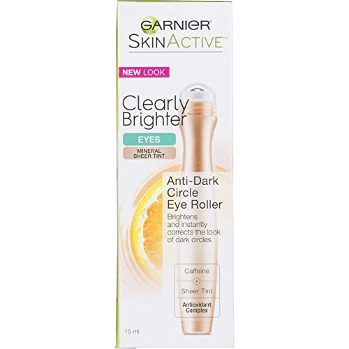 Garnier SkinActive Clearly Brighter Sheer Tinted Eye Roller, Light/Medium 0.5 oz