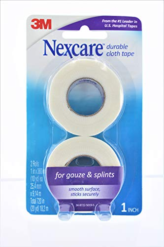 Nexcare Durable Cloth First Aid Tape Dispenser, 3/4 Inch x 6 Yard, From the #1 Leader in U.S. Hospital Tapes