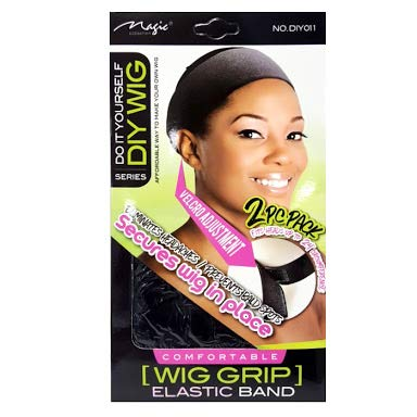 Magic Collection Comfortable Wig Grip Elastic Band Fits Heads Up To 24'' Circumference 2 pieces