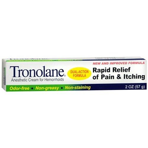 Tronolane Anesthetic Cream for Hemorrhoids, Dual-action Formula, 2 Ounces (Pack of 4) by Tronolane