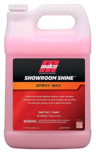 Malco Showroom Shine Spray Car Wax – Best Car Wax Spray for Professional Finish/Easy to Use Instant Detailer Spray/Cleans and Waxes Painted Surfaces, Metal and Glass / 1 Gallon (110401)