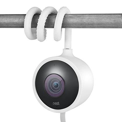 Wasserstein Versatile Twist Mount for Nest Cam Outdoor, Flexible Gooseneck-Like Mount for Nest Outdoor Camera - Attach Your Nest Cam Outdoor Wherever You Like Without Tools or Wall Damage (White)