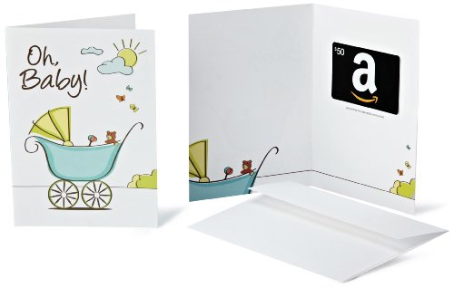Amazon.com $50 Gift Card in a Greeting Card (Oh, Baby! Design)