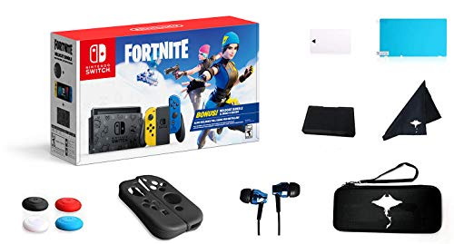 Newest Switch Wildcat Bundle Fort-nite Edition 32GB Unique Console - Yellow and Blue Joy-Con - 6.2' Touchscreen LCD Display, 2000 V Bucks, Family Christmas w/GM 13-in-1 Supper Kit Case