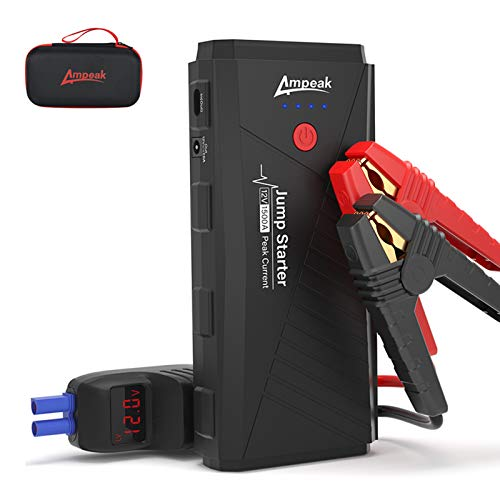 Ampeak Car Battery Jump Starter, 1500A Peak Jump Box 16800mAh 12V Portable Auto Battery Booster Power Pack (Up to 7L Gas or 6L Diesel Engine) with USB Quick Charge 3.0