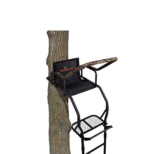 BIG GAME LS3811 17' Warrior Dxt Ladderstand, Camo/Black