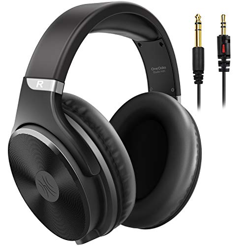 OneOdio Wired Headphones - Over Ear Headphones with Noise Isolation Dual Jack Professional Studio Monitor & Mixing Recording Headphones for Guitar Amp Drum Keyboard Podcast PC Computer