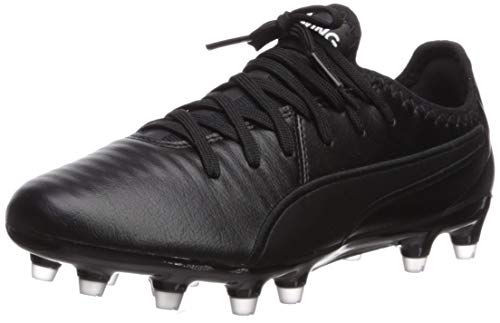 PUMA King PRO FG Sneaker, Black White, 10 M US