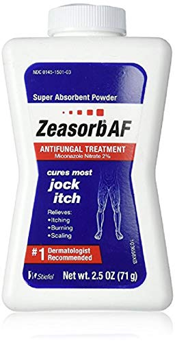 Zeasorb Antifungal Treatment Powder, Jock Itch - 2.5 oz, Pack of 6