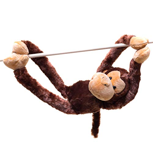 24-Inch Hanging Monkey Stuffed Animal – Monkey Toy With Specially Designed Ultra Soft Plush Feel For Kids - Hands And Feet Connect Together - Bring These Popular Monkeys Home To Boys & Girls Ages 3+