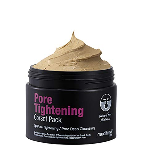 Meditime Pore Tightening Corset Pack, Pore Minimizer Korean Mud Pack, Easy Wash Off with Moisturization