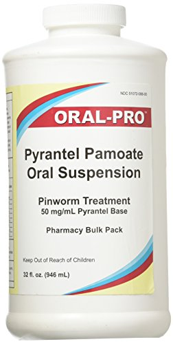 Aurora 50Mg/Ml Oral Pro Pyrantel Pamoate Oral Suspension, 32 Ounce, White