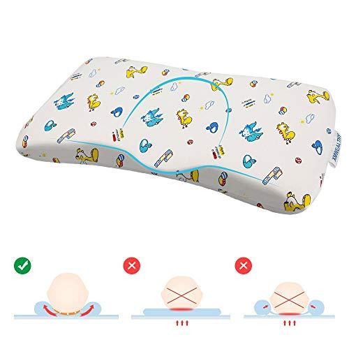 XMWEALTHY Baby Pillows with Pillowcase Cute Dinosaur Infants Memory Form Crib Pillows for Sleeping Newborn Head Shaping Pillows