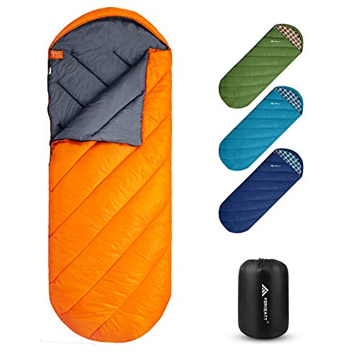 Forceatt Camping Sleeping Bag, 3 to 4 Season Travel Backpacking Sleeping Bag, Lightweight, Water Repellent, Breathable and Warm, Suitable for Adults Teens Kids Outdoor Hiking