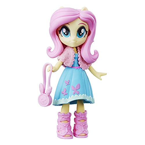 My Little Pony Equestria Girls Fashion Squad Fluttershy 3' Mini Doll with Removable Outfit, Shoes & Accessory, for Kids 5 & Up