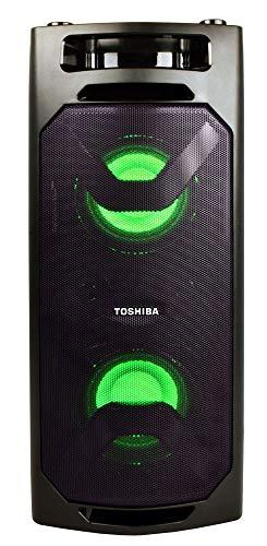 Toshiba TY-ASC50 Wireless Speaker System w/FM Stereo Radio | 50 Watt Outdoor Bluetooth Speaker | Party Speakers w/Rechargeable Batteries & MP3 Function | 3.5mm Stereo Earphone Jack | 2 USB Inputs
