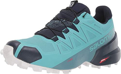 Salomon Women's Speedcross 5 GTX W Trail Running, Meadowbrook/Navy Blazer/White San, 9.5