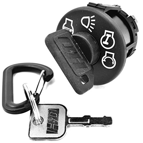 HD Switch Starter Ignition Switch Replaces John Deere D100 D105 D110 D120 D125 D130 D140 D150 D155 D160 D170 Includes 1 Umbrella & 1 Steel Key & Free Carabiner