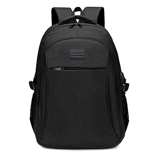 Travel Laptop Backpack, Water Resistant 17 Inch Largre Capacity Computer Backpacks with USB Black