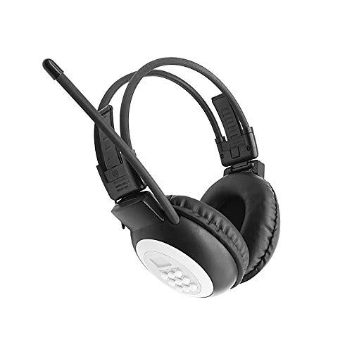 Portable Personal FM Radio Headphones Ear Muffs with Best Reception, Wireless Headset with Radio Built in for Walking, Jogging, Daily Works Powered by 2 AA Batteries (Not Included)