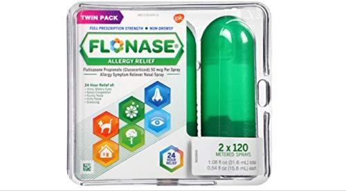 Flonase Allergy Relief Nasal Spray, 120 Count (Pack of 2) Flonase-wr