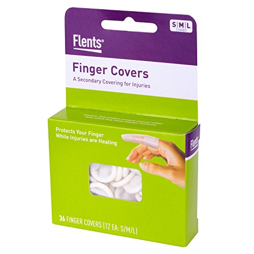 Flents First Aid Finger Cots, 36 Count, Protects Finger While Healing From Injury