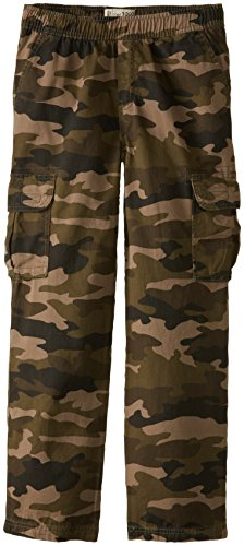 The Children's Place Boys' Uniform Pull On Chino Cargo Pants, Olive Camo, 10