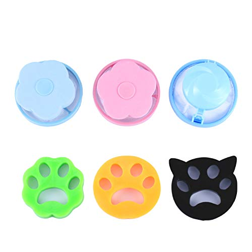 6 Pieces Pet Hair Remover for Laundry, Reusable Washing Machine Lint Catcher, Pet Hair Catcher for Cleaning, Floating Filter Net Clean Bag for Clothes/Bedding