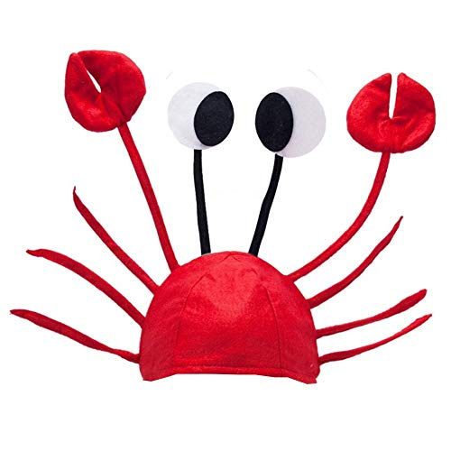 Crab Hat - Ocean Animal Hats - Fish Hats – Crawfish Costume - Under the Sea Party - By Funny Party Hats